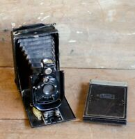 Antique Vintage ZEISS IKON Derval FOLDING CAMERA NOVAR Voigtlander
