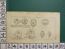1785 antico stampa ~ York artifact Archeology monete Romana Cesare