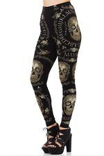 Jawbreaker Dark Sheer Ouija Skull Gothic Comfortable Women Legging Sz L Black