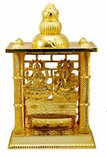 Laxmi Ganesh Mandir- Brass Plated Especially For Diwali Pooja And Gift Purpose