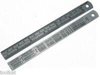 """2PK OF 6 """" 150MM STEEL RULES SET RULERS SET MEASURING ENGINEERS RULER"""