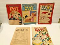 Children's PlayMate Magazines Lot of 5 From The 1940's            W1