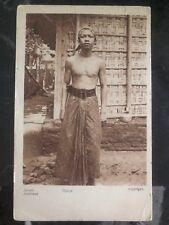1926 Surabaya Netherlands Indies RPPC Postcard Cover to Cambridge USA Javanese