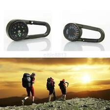 Multifunctional Hiking Metal Carabiner Mini Compass Thermometer Keychain Camping