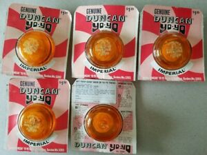 Vintage Duncan Yoyo Imperials (3 colors) and Butterfly 1972 all in org. package