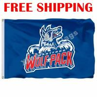 Hartford Wolf Pack Logo Flag AHL American Hockey League 2018 Banner 3X5 ft