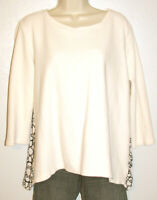 Ann Taylor Loft Women's 3/4 Sleeve Cream Top w Pleated Blousy Back Size Medium