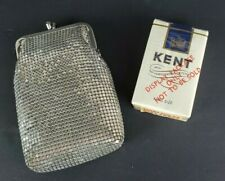 New listing Whiting And Davis Silver Alumesh Cigarette Case Purse Clutch Dummy Pack Cigs