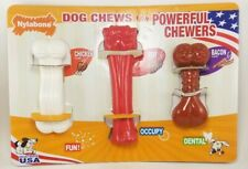 Nylabone Dog Chew Toys Flavored for Powerful Chewers  3 PACK w 3 Flavors