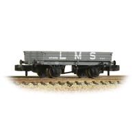 Graham Farish 377-502B N Gauge 3 Plank Wagon LMS Grey