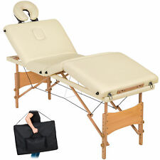 4 Zonen Massageliege Massagetisch Massagebank klappbar mobil beige B-Ware