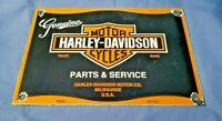 HARLEY DAVIDSON MOTORCYCLE PORCELAIN GAS SERVICE VINTAGE STYLE PUMP PLATE SIGN