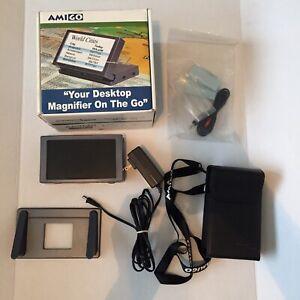 Amigo Enhanced Vision Desktop Magnifier Model AMG-A used *Read Description*