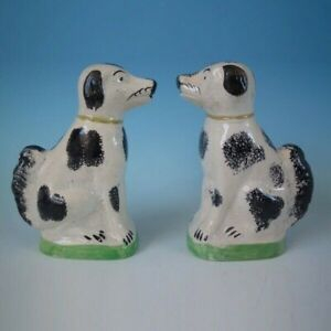 Pair Staffordshire Pearlware dogs