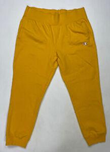 Champion Reverse Weave Sweatpants Women Adult XL Yellow