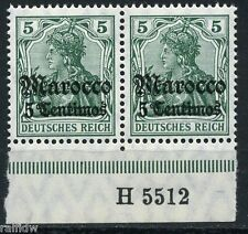 DP Marokko 5 Centimos Germania 1906** Michel 35 Hausauftragsnummer HAN (S5295)
