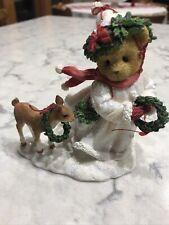 Cherished Teddies 2013 Figurine, Ashlynn, Winter, Snow, Fawn, 4034594, Nib