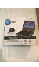 ONN ONA19DP006 Swivel Portable DVD Player Kit, 7IN Display Travel Headphone Trip