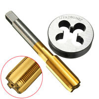 1/2''-28 HSS Right Hand Thread Cutting Tool UNEF Tap&Die Set Titanium Coated US