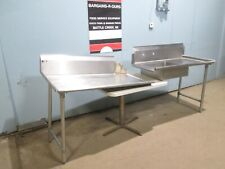 Elkay Lot Of 2 Hd Commercial Nsf Ss Set Of L Amp R Dish Washing Tables
