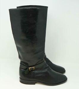 Jordan High Tall Leather Boots Black Size US 8