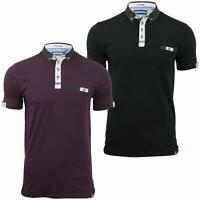 Mens Polo T-Shirt by D555 'Edger' Short Sleeved