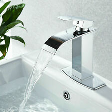 Waterfall Bathroom Faucet Single Handle/Hole Bath Sink Faucet Chrome Mixer Tap
