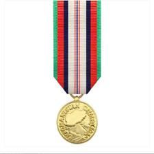 Vanguard (Mini) Miniature Afghanistan Campaign Military Award Medal- 24k Gold Pl