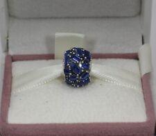 AUTHENTIC PANDORA Blue Chiselled Elegance Charm, 797746NSBL  #1510