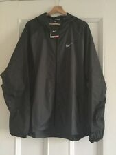 Mens NIKE RUNNING Hooded Athletic Light Jacket Wind Resistant Size XXL