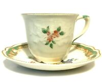 PAPEEK Tea Cup and Saucer Johnson Bros Demitasse Flaw Great Gift Holiday