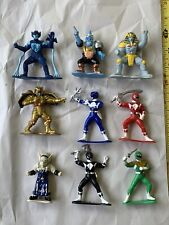 1993 MMPR Power Rangers Collectible Figures Lot old Vintage Bandai 9 Figs PVC