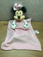 """Disney Minnie Mouse Plush Baby Soft Toy Collectable 15"""" Nursery Blanket Soother"""