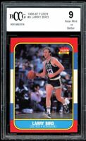 1986-87 Fleer #9 Larry Bird Card BGS BCCG 9 Near Mint+