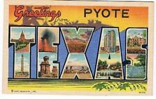 "Post Cards ""Greetings from Pyote"" -1940's"