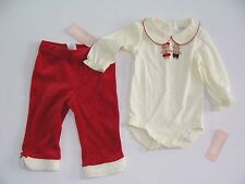 Gymboree Gingerbread Girl Baby Girls Size 12-18 Months Shirt Top Pants NWT