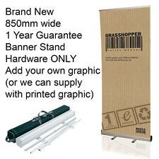850mm x 2000mm Grasshopper Roller Banner Stand Cassette Pull Up New with Case 1