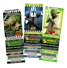 STAR WARS THE CLONE BIRTHDAY PARTY INVITATION TICKET first 1ST -c3 personalized