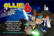 Personalised Birthday Invitations Star Wars x 5