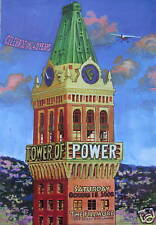 TOWER OF POWER FILLMORE POSTER F974 ORIGINAL SIGNED BY ARTIST CHRIS PETERSON