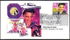 Elvis Presley #2721 Color Label Affixed Cachet with Music Cancel FDC (LOT 304)