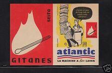 Ancienne étiquette paquet Allumette France Atlantic 4