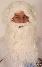 White Wizard Santa Old Man Fancy Dress Wig & Beard Set Xmas Christmas P4891