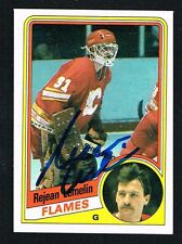 Rejean Lemelin #25 signed autograph auto 1984-85 Topps Hockey Trading Card