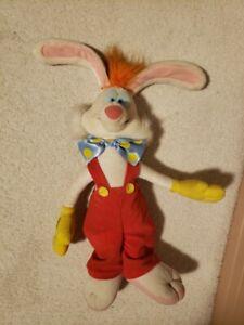 "Bow Tie Bunny Red Pants 19""h Plush Stuffed Rare!"