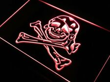 "16""x12"" j632-r Pirate Girl Skull Home Decor NEW Neon Sign"