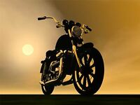 ART PRINT POSTER PAINTING DRAWING MOTORBIKE MOTORCYCLE SUN HAZE LFMP0423