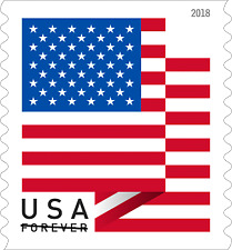 USPS US Flag 2018 Forever Stamps - Roll of 100