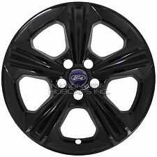 "4 BLACK 2013-2016 Ford Escape SE 17"" Wheel Skins Hub Caps Full Alloy Rim Covers"