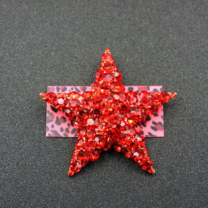 Charm Women's Red Crystal Exquisite Star Betsey Johnson Brooch Pin Gift